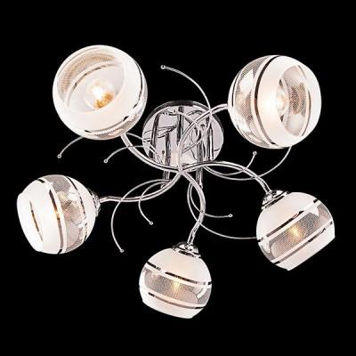 Светильник Евросвет 30008/5 хромПотолочные<br>Компания «Светодом» предлагает широкий ассортимент люстр от известных производителей. Представленные в нашем каталоге товары выполнены из современных материалов и обладают отличным качеством. Благодаря широкому ассортименту Вы сможете найти у нас люстру под любой интерьер. Мы предлагаем как классические варианты, так и современные модели, отличающиеся лаконичностью и простотой форм.  Стильная люстра Евросвет 30008/5 станет украшением любого дома. Эта модель от известного производителя не оставит равнодушным ценителей красивых и оригинальных предметов интерьера. Люстра Евросвет 30008/5 обеспечит равномерное распределение света по всей комнате. При выборе обратите внимание на характеристики, позволяющие приобрести наиболее подходящую модель. Купить понравившуюся люстру по доступной цене Вы можете в интернет-магазине «Светодом».<br><br>Установка на натяжной потолок: Да<br>S освещ. до, м2: 15<br>Крепление: Планка<br>Тип лампы: Накаливания / энергосбережения / светодиодная<br>Тип цоколя: E27<br>Количество ламп: 5<br>MAX мощность ламп, Вт: 60<br>Диаметр, мм мм: 580<br>Высота, мм: 250<br>Цвет арматуры: серебристый