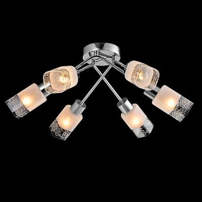 Светильник Евросвет 30017/6 хромПотолочные<br><br><br>S освещ. до, м2: 12<br>Тип лампы: Накаливания / энергосбережения / светодиодная<br>Тип цоколя: E14<br>Количество ламп: 6<br>MAX мощность ламп, Вт: 40<br>Диаметр, мм мм: 520<br>Высота, мм: 220<br>Цвет арматуры: серебристый<br>Общая мощность, Вт: 40