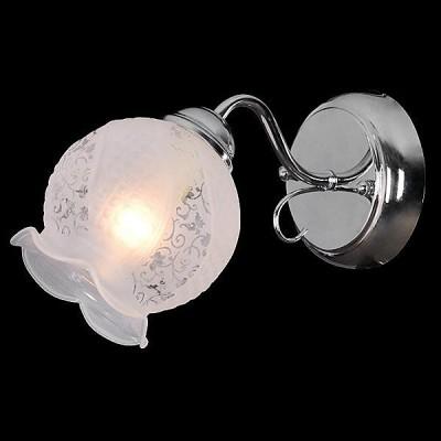 Светильник Евросвет 30019/1 хромФлористика<br><br><br>Тип лампы: Накаливания / энергосбережения / светодиодная<br>Тип цоколя: E14<br>Цвет арматуры: серебристый<br>Количество ламп: 1<br>Ширина, мм: 110<br>Длина, мм: 260<br>Высота, мм: 150<br>MAX мощность ламп, Вт: 60