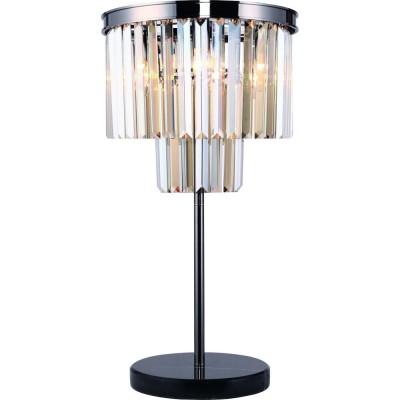 Светильник Divinare 3002/06 TL-3Хрустальные настольные лампы<br>Настольная лампа – это не просто источник дополнительного освещения, но и оригинальный элемент декора. Его можно установить в спальне, гостиной, кабинете и других комнатах. Интернет-магазин «Светодом» предлагает настольные лампы разных стилей по доступным ценам. Благодаря большому ассортименту Вы обязательно найдете в нашем каталоге именно ту модель, которую искали.   Настольная лампа Divinare 3002/06 TL-3 – прекрасный вариант для завершения интерьера. Ее можно включить одновременно с люстрой для более яркого освещения или без нее для создания уютной атмосферы, настраивающей на отдых.   Купить настольную лампу Divinare 3002/06 TL-3 Вы можете с помощью виртуальной «Корзины» или по контактным номерам, указанным на сайте.<br><br>Тип цоколя: E14<br>Цвет арматуры: черный хром серебристый<br>Количество ламп: 3<br>Ширина, мм: 350<br>Диаметр, мм мм: 350<br>Высота, мм: 650<br>MAX мощность ламп, Вт: 40