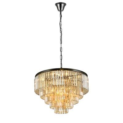 Светильник Divinare 3002/06 SP-18Подвесные<br><br><br>S освещ. до, м2: 36<br>Тип лампы: Накаливания / энергосбережения / светодиодная<br>Тип цоколя: E14<br>Цвет арматуры: черный<br>Количество ламп: 18<br>Диаметр, мм мм: 800<br>Высота, мм: 750<br>MAX мощность ламп, Вт: 40W