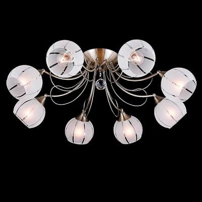 Светильник Евросвет 30021/8 античная бронзаПотолочные<br><br><br>S освещ. до, м2: 24<br>Тип лампы: Накаливания / энергосбережения / светодиодная<br>Тип цоколя: E14<br>Количество ламп: 8<br>MAX мощность ламп, Вт: 60<br>Диаметр, мм мм: 720<br>Высота, мм: 220<br>Цвет арматуры: бронзовый