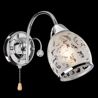 Светильник Евросвет 30026/1 хромСовременные<br><br><br>Тип лампы: Накаливания / энергосбережения / светодиодная<br>Тип цоколя: E27<br>Количество ламп: 1<br>Ширина, мм: 120<br>MAX мощность ламп, Вт: 60<br>Длина, мм: 220<br>Высота, мм: 170<br>Цвет арматуры: серебристый