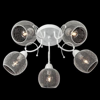Светильник Евросвет 30041/5 белыйПотолочные<br><br><br>Установка на натяжной потолок: Ограничено<br>S освещ. до, м2: 15<br>Крепление: Планка<br>Тип лампы: Накаливания / энергосбережения / светодиодная<br>Тип цоколя: E14<br>Количество ламп: 5<br>MAX мощность ламп, Вт: 60<br>Диаметр, мм мм: 540<br>Высота, мм: 230<br>Цвет арматуры: белый