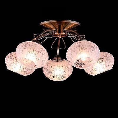 Светильник Евросвет 30047/5 античная бронзаПотолочные<br><br><br>S освещ. до, м2: 15<br>Тип лампы: Накаливания / энергосбережения / светодиодная<br>Тип цоколя: E27<br>Количество ламп: 5<br>MAX мощность ламп, Вт: 60<br>Диаметр, мм мм: 450<br>Высота, мм: 230<br>Цвет арматуры: бронзовый