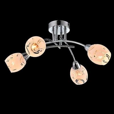 Светильник Евросвет 30060/4 хромПотолочные<br><br><br>S освещ. до, м2: 8<br>Тип лампы: Накаливания / энергосбережения / светодиодная<br>Тип цоколя: E14<br>Количество ламп: 4<br>MAX мощность ламп, Вт: 40<br>Диаметр, мм мм: 470<br>Высота, мм: 220<br>Цвет арматуры: серебристый