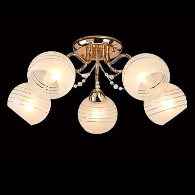 Светильник Евросвет 30062/5 золотоПотолочные<br><br><br>S освещ. до, м2: 15<br>Тип лампы: Накаливания / энергосбережения / светодиодная<br>Тип цоколя: E27<br>Количество ламп: 5<br>MAX мощность ламп, Вт: 60<br>Диаметр, мм мм: 600<br>Высота, мм: 220<br>Цвет арматуры: Золотой