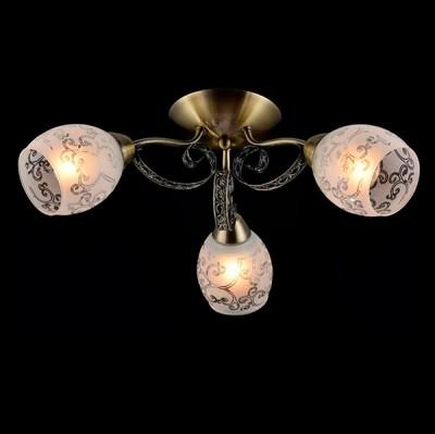 Светильник Евросвет 30078/3 античная бронзаПотолочные<br><br><br>S освещ. до, м2: 9<br>Тип лампы: Накаливания / энергосбережения / светодиодная<br>Тип цоколя: E27<br>Количество ламп: 3<br>MAX мощность ламп, Вт: 60<br>Диаметр, мм мм: 570<br>Высота, мм: 190<br>Цвет арматуры: бронзовый