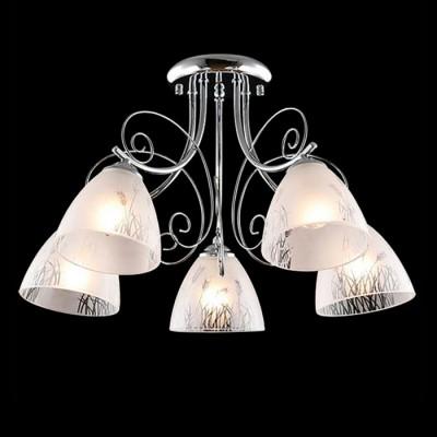 Светильник Евросвет 30082/5 хромПотолочные<br><br><br>S освещ. до, м2: 15<br>Тип лампы: Накаливания / энергосбережения / светодиодная<br>Тип цоколя: E27<br>Количество ламп: 5<br>MAX мощность ламп, Вт: 60<br>Диаметр, мм мм: 510<br>Высота, мм: 310