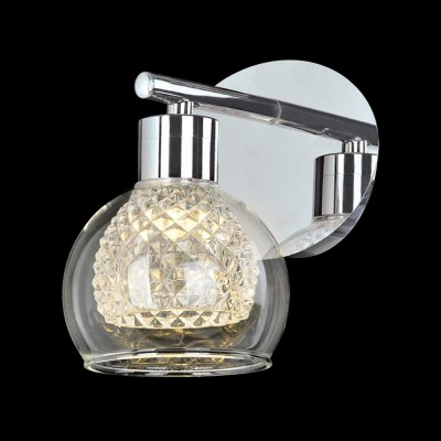 Светильник Евросвет 30083/1 хромМодерн<br><br><br>S освещ. до, м2: 2<br>Тип товара: Светильник настенный бра<br>Тип лампы: галогенная / LED-светодиодная<br>Тип цоколя: G9<br>Количество ламп: 1<br>Ширина, мм: 140<br>MAX мощность ламп, Вт: 40<br>Расстояние от стены, мм: 160<br>Высота, мм: 150<br>Цвет арматуры: серебристый