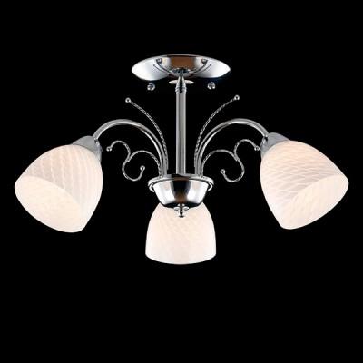 Светильник Евросвет 30084/3 хромПотолочные<br><br><br>S освещ. до, м2: 9<br>Тип лампы: Накаливания / энергосбережения / светодиодная<br>Тип цоколя: E27<br>Количество ламп: 3<br>MAX мощность ламп, Вт: 60<br>Диаметр, мм мм: 500<br>Высота, мм: 280<br>Цвет арматуры: серебристый