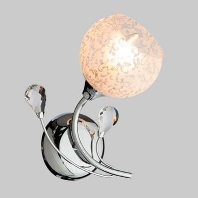 Светильник Евросвет 30089/1 хромСовременные<br><br><br>Тип лампы: Накаливания / энергосбережения / светодиодная<br>Тип цоколя: E14<br>Количество ламп: 1<br>Ширина, мм: 190<br>MAX мощность ламп, Вт: 60<br>Длина, мм: 260<br>Высота, мм: 150<br>Цвет арматуры: серебристый хром