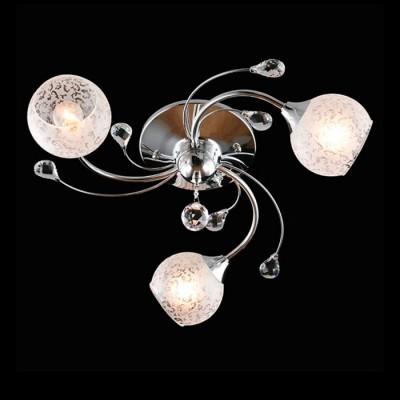 Светильник Евросвет 30089/3 хромПотолочные<br><br><br>S освещ. до, м2: 9<br>Тип лампы: Накаливания / энергосбережения / светодиодная<br>Тип цоколя: E14<br>Количество ламп: 3<br>MAX мощность ламп, Вт: 60<br>Диаметр, мм мм: 580<br>Высота, мм: 180<br>Цвет арматуры: серебристый хром