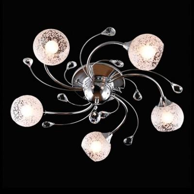 Светильник Евросвет 30089/5 хромПотолочные<br><br><br>S освещ. до, м2: 15<br>Тип лампы: Накаливания / энергосбережения / светодиодная<br>Тип цоколя: E14<br>Количество ламп: 5<br>MAX мощность ламп, Вт: 60<br>Диаметр, мм мм: 670<br>Высота, мм: 180<br>Цвет арматуры: серебристый хром