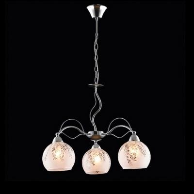 Светильник Евросвет 30095/3 хромПодвесные<br><br><br>S освещ. до, м2: 9<br>Тип лампы: Накаливания / энергосбережения / светодиодная<br>Тип цоколя: E27<br>Количество ламп: 3<br>MAX мощность ламп, Вт: 60<br>Диаметр, мм мм: 540<br>Высота, мм: 420 - 620<br>Цвет арматуры: серебристый хром