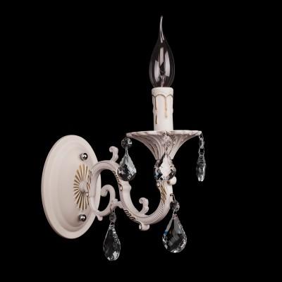 Светильник настенный бра Mw light 301024501 СвечаКлассические<br>Описание модели 301024501: Классическая форма металлического светильника Свеча представлена в белой цветовой гамме с позолотой, что соответствует современным декоративным трендам. Элегантные подвески из драгоценного хрусталя солнечно вторят сиянию света, излучаемого стилизованными свечами. Сочетание идеальных линий арматуры и броского тонового оформления светильника Свеча понравится как ценителям прекрасной старины, так и приверженцам современного стиля.<br><br>S освещ. до, м2: 3<br>Тип лампы: накаливания / энергосбережения / LED-светодиодная<br>Тип цоколя: E14<br>Ширина, мм: 110<br>MAX мощность ламп, Вт: 60<br>Длина, мм: 220<br>Расстояние от стены, мм: 260<br>Высота, мм: 260<br>Общая мощность, Вт: 60
