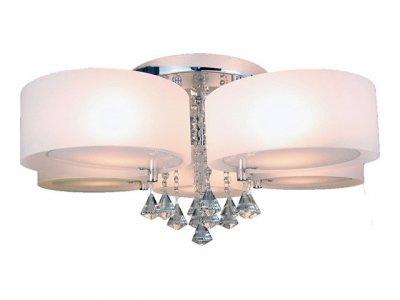Люстра Lamplandia 3017-5 Limaсовременные потолочные люстры модерн<br>Стильная люстра с метелличским основанием цвета хром со стеклянными плафонами белого матового цвета<br><br>Установка на натяжной потолок: Ограничено<br>S освещ. до, м2: 20<br>Крепление: Планка<br>Тип лампы: накаливания / энергосбережения / LED-светодиодная<br>Тип цоколя: E27<br>Цвет арматуры: серебристый<br>Количество ламп: 5<br>Диаметр, мм мм: 500<br>MAX мощность ламп, Вт: 60