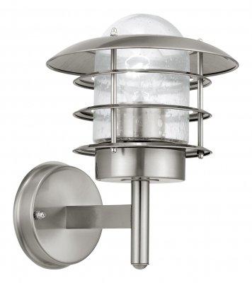 Eglo MOUNA 30181 светильник уличныйНастенные<br>Обеспечение качественного уличного освещения – важная задача для владельцев коттеджей. Компания «Светодом» предлагает современные светильники, которые порадуют Вас отличным исполнением. В нашем каталоге представлена продукция известных производителей, пользующихся популярностью благодаря высокому качеству выпускаемых товаров.   Уличный светильник Eglo 30181 не просто обеспечит качественное освещение, но и станет украшением Вашего участка. Модель выполнена из современных материалов и имеет влагозащитный корпус, благодаря которому ей не страшны осадки.   Купить уличный светильник Eglo 30181, представленный в нашем каталоге, можно с помощью онлайн-формы для заказа. Чтобы задать имеющиеся вопросы, звоните нам по указанным телефонам.<br><br>Тип лампы: накаливания / энергосбережения / LED-светодиодная<br>Тип цоколя: E27<br>MAX мощность ламп, Вт: 60<br>Диаметр, мм мм: 205<br>Расстояние от стены, мм: 240<br>Высота, мм: 260<br>Оттенок (цвет): прозрачный<br>Цвет арматуры: серебристый<br>Общая мощность, Вт: 2
