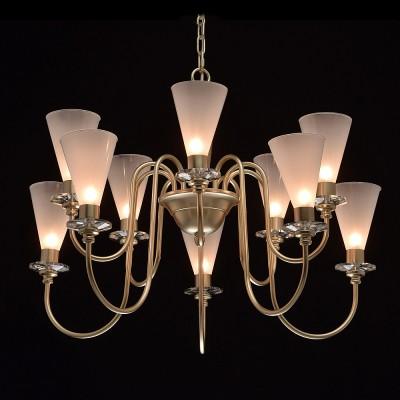Mw light 303011810 СветильникПодвесные<br><br><br>Установка на натяжной потолок: Да<br>S освещ. до, м2: 20<br>Тип лампы: галогенная/LED<br>Тип цоколя: G9<br>Количество ламп: 10<br>Диаметр, мм мм: 700<br>Высота, мм: 740 - 1360<br>MAX мощность ламп, Вт: 40