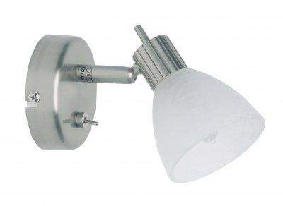 Спот Brilliant G30611/13 BrightonОдиночные<br>Зачастую мы ищем идеальное освещение для своего дома и уделяем этому достаточно много времени. Так, например, если нам нужен светильник с количеством ламп - 1 и цвет плафонов должен быть - белый алебастр, а материал плафонов только стекло! То нам, как вариант, подойдет модель - спот Brilliant G30611/13.<br><br>S освещ. до, м2: 2<br>Тип лампы: галогенная / LED-светодиодная<br>Тип цоколя: G9<br>Количество ламп: 1<br>MAX мощность ламп, Вт: 40<br>Диаметр, мм мм: 85<br>Цвет арматуры: серебристый