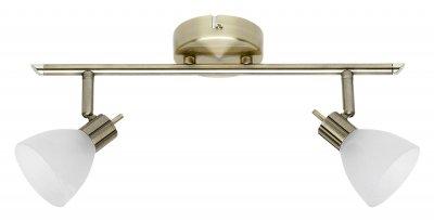 Светильник Brilliant G30613/31 BrightonДвойные<br>Светильники-споты – это оригинальные изделия с современным дизайном. Они позволяют не ограничивать свою фантазию при выборе освещения для интерьера. Такие модели обеспечивают достаточно качественный свет. Благодаря компактным размерам Вы можете использовать несколько спотов для одного помещения.  Интернет-магазин «Светодом» предлагает необычный светильник-спот Brilliant G30613/31 по привлекательной цене. Эта модель станет отличным дополнением к люстре, выполненной в том же стиле. Перед оформлением заказа изучите характеристики изделия.  Купить светильник-спот Brilliant G30613/31 в нашем онлайн-магазине Вы можете либо с помощью формы на сайте, либо по указанным выше телефонам. Обратите внимание, что мы предлагаем доставку не только по Москве и Екатеринбургу, но и всем остальным российским городам.<br><br>S освещ. до, м2: 5<br>Тип лампы: галогенная / LED-светодиодная<br>Тип цоколя: G9<br>Количество ламп: 2<br>Ширина, мм: 400<br>MAX мощность ламп, Вт: 40<br>Диаметр, мм мм: 100<br>Цвет арматуры: бронзовый