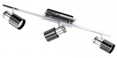 Eglo DAVIDA 1 30834 Светильник поворотный спотТройные<br>Светильники-споты – это оригинальные изделия с современным дизайном. Они позволяют не ограничивать свою фантазию при выборе освещения для интерьера. Такие модели обеспечивают достаточно качественный свет. Благодаря компактным размерам Вы можете использовать несколько спотов для одного помещения.  Интернет-магазин «Светодом» предлагает необычный светильник-спот Eglo 30834 по привлекательной цене. Эта модель станет отличным дополнением к люстре, выполненной в том же стиле. Перед оформлением заказа изучите характеристики изделия.  Купить светильник-спот Eglo 30834 в нашем онлайн-магазине Вы можете либо с помощью формы на сайте, либо по указанным выше телефонам. Обратите внимание, что у нас склады не только в Москве и Екатеринбурге, но и других городах России.<br><br>Цветовая t, К: 3000 (теплый белый)<br>Тип лампы: галогенная / LED-светодиодная<br>Тип цоколя: GU10<br>Ширина, мм: 70<br>MAX мощность ламп, Вт: 2<br>Размеры основания, мм: 0<br>Длина, мм: 580<br>Цвет арматуры: черный<br>Общая мощность, Вт: 3X5W