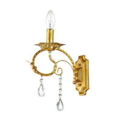 Настенный светильник бра Lumion 3084/1W MIRINAКлассические<br>Бра 3084/1W серии Mirina оформлена в классическом стиле. Светильник состоит из арматуры необычного цвета -  золото с серебряной патиной, украшенной хрустальными подвесками. Одна из самых красивых моделей классических люстр под лампу-свечку. Цоколь E14. Мощность 1x40W. Нет ламп в комплекте.<br><br>Крепление: Настенное<br>Тип лампы: накаливания / энергосбережения / LED-светодиодная<br>Тип цоколя: E14<br>Цвет арматуры: Золотой<br>Количество ламп: 1<br>Ширина, мм: 120<br>Диаметр, мм мм: 260<br>Длина, мм: 260<br>Высота, мм: 240<br>MAX мощность ламп, Вт: 40