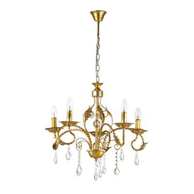 Люстра подвесная Lumion 3084/5 MIRINAПодвесные<br>Люстра 3084/5 серии Mirina оформлена в классическом стиле. Люстра состоит из арматуры необычного цвета -  золото с серебряной патиной, украшенной хрустальными подвесками. Одна из самых красивых моделей классических люстр под лампу-свечку. Цоколь E14. Мощность 5x40W. Нет ламп в комплекте.<br><br>Установка на натяжной потолок: Да<br>S освещ. до, м2: 10<br>Крепление: Потолочное<br>Тип лампы: накаливания / энергосбережения / LED-светодиодная<br>Тип цоколя: E14<br>Количество ламп: 5<br>Ширина, мм: 580<br>MAX мощность ламп, Вт: 40<br>Диаметр, мм мм: 580<br>Длина, мм: 580<br>Высота, мм: 900<br>Цвет арматуры: золотой