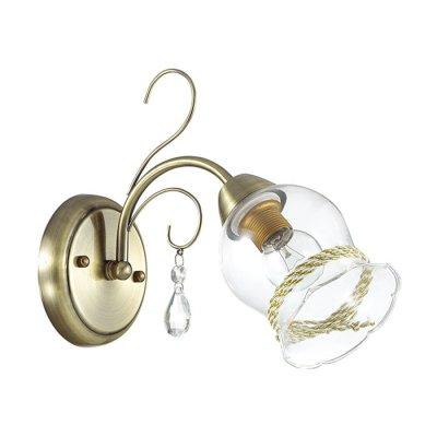 Настенный светильник бра Lumion 3094/1W DIVINAКлассические<br>Бра 3094/1W серии Divina оформлена в классическом стиле. Светильник состоит из стеклянного плафона с металлической окантовкой и арматуры бронзового цвета, украшенной хрусталем. Данная модель станет прекрасным решением для кухни или небольшой гостиной. Цоколь E14. Мощность 1x60W. Нет ламп в комплекте.<br><br>Крепление: Настенное<br>Тип лампы: накаливания / энергосбережения / LED-светодиодная<br>Тип цоколя: E14<br>Цвет арматуры: бронзовый<br>Количество ламп: 1<br>Ширина, мм: 290<br>Диаметр, мм мм: 290<br>Длина, мм: 290<br>Высота, мм: 240<br>MAX мощность ламп, Вт: 60