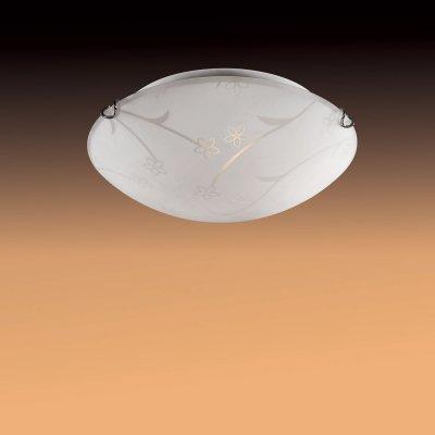 Светильник Сонекс 210 Luaro хром/белыйКруглые<br><br><br>S освещ. до, м2: 8<br>Тип товара: Светильник настенно-потолочный<br>Тип лампы: накаливания / энергосбережения / LED-светодиодная<br>Тип цоколя: E27<br>Количество ламп: 2<br>MAX мощность ламп, Вт: 60<br>Диаметр, мм мм: 400<br>Цвет арматуры: серебристый