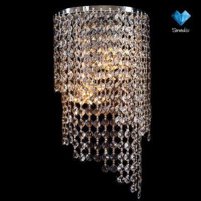 Светильник бра Евросвет 3102/2 хромХрустальные<br><br><br>S освещ. до, м2: 15<br>Тип лампы: накаливания / энергосбережения / LED-светодиодная<br>Тип цоколя: E27<br>Количество ламп: 2/2<br>Ширина, мм: 200<br>MAX мощность ламп, Вт: 60/13<br>Длина, мм: 130<br>Высота, мм: 380<br>Цвет арматуры: серебристый