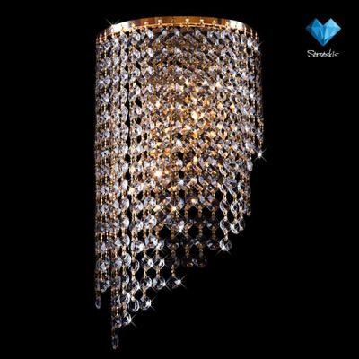 Светильник бра Евросвет 3102/2Хрустальные<br><br><br>S освещ. до, м2: 15<br>Тип лампы: накаливания / энергосбережения / LED-светодиодная<br>Тип цоколя: E27<br>Количество ламп: 2/2<br>Ширина, мм: 200<br>MAX мощность ламп, Вт: 60/13<br>Длина, мм: 130<br>Высота, мм: 380<br>Цвет арматуры: золотой