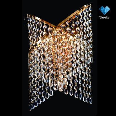 Светильник настенный Евросвет 3105/3 золотоХрустальные<br><br><br>S освещ. до, м2: 15<br>Тип лампы: накаливания / энергосбережения / LED-светодиодная<br>Тип цоколя: E27<br>Количество ламп: 3/3<br>Ширина, мм: 260<br>MAX мощность ламп, Вт: 60/13<br>Длина, мм: 130<br>Высота, мм: 360<br>Цвет арматуры: золотой