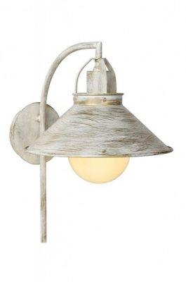 Светильник бра Lucide 31220/01/21 BERKLEYбра в стиле лофт<br><br><br>Тип лампы: накаливания / энергосбережения / LED-светодиодная<br>Тип цоколя: E27<br>Цвет арматуры: античный белый<br>Количество ламп: 1<br>Ширина, мм: 240<br>Длина, мм: 330<br>Высота, мм: 380<br>Оттенок (цвет): белый