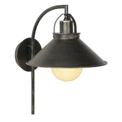 Светильник бра Lucide 31220/01/97 BERKLEYЛофт<br><br><br>Тип лампы: накаливания / энергосбережения / LED-светодиодная<br>Тип цоколя: E27<br>Цвет арматуры: ржаво-коричневый<br>Количество ламп: 1<br>Ширина, мм: 240<br>Длина, мм: 330<br>Высота, мм: 380<br>Оттенок (цвет): коричневый