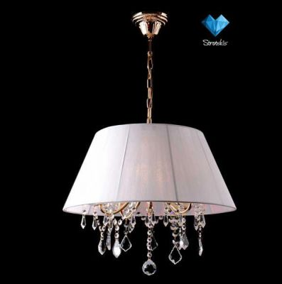 Люстра Евросвет 3125/5Подвесные<br><br><br>Установка на натяжной потолок: Да<br>S освещ. до, м2: 20<br>Крепление: Крюк<br>Тип товара: Люстра подвесная<br>Тип лампы: накаливания / энергосбережения / LED-светодиодная<br>Тип цоколя: E14<br>Количество ламп: 5<br>MAX мощность ламп, Вт: 60<br>Диаметр, мм мм: 450<br>Высота, мм: 460 - 860<br>Цвет арматуры: золотой