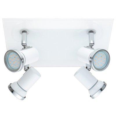 Eglo TAMARA 1 31264 Светильник поворотный спотС 4 лампами<br>Светильники-споты – это оригинальные изделия с современным дизайном. Они позволяют не ограничивать свою фантазию при выборе освещения для интерьера. Такие модели обеспечивают достаточно качественный свет. Благодаря компактным размерам Вы можете использовать несколько спотов для одного помещения.  Интернет-магазин «Светодом» предлагает необычный светильник-спот Eglo 31264 по привлекательной цене. Эта модель станет отличным дополнением к люстре, выполненной в том же стиле. Перед оформлением заказа изучите характеристики изделия.  Купить светильник-спот Eglo 31264 в нашем онлайн-магазине Вы можете либо с помощью формы на сайте, либо по указанным выше телефонам. Обратите внимание, что у нас склады не только в Москве и Екатеринбурге, но и других городах России.<br><br>S освещ. до, м2: 4<br>Тип лампы: LED - светодиодная<br>Тип цоколя: GU10<br>Цвет арматуры: белый<br>Количество ламп: 4<br>Размеры основания, мм: 0<br>Длина, мм: 240<br>Высота, мм: 260<br>MAX мощность ламп, Вт: 2<br>Общая мощность, Вт: 4X2,5W