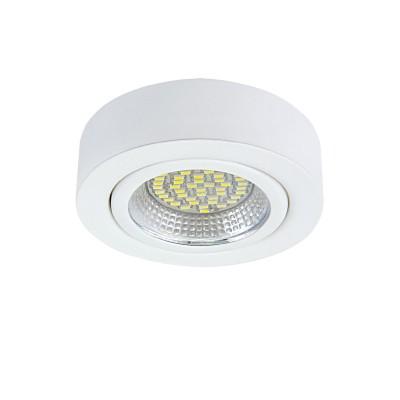 Светильник Lightstar 3130 MONDEКруглые<br><br><br>Цветовая t, К: 3000<br>Тип лампы: LED<br>Тип цоколя: LED<br>Диаметр, мм мм: 70<br>Цвет арматуры: белый