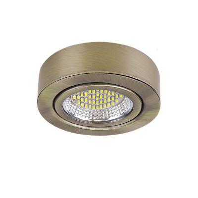 Светильник Lightstar 3131 MONDEКруглые<br><br><br>Цветовая t, К: 3000<br>Тип лампы: LED<br>Тип цоколя: LED<br>Цвет арматуры: бронзовый<br>Диаметр, мм мм: 70<br>Высота, мм: 25