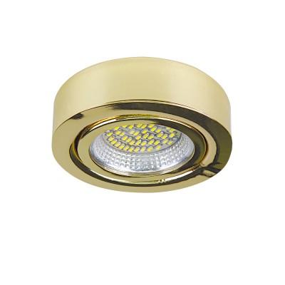 Светильник Lightstar 3132 MONDEКруглые<br><br><br>Цветовая t, К: 3000<br>Тип лампы: LED<br>Тип цоколя: LED<br>Диаметр, мм мм: 70<br>Высота, мм: 25<br>Цвет арматуры: золотой