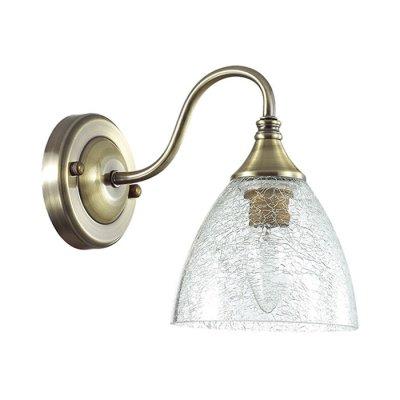 Настенный светильник бра Lumion 3132/1W VIVINAклассические бра<br>Бра 3132/1W серии Vivina оформлена в классическом стиле. Светильник состоит плафона с эффектом потресавшегося стекла и сдержанной арматуры бронзового цвета. Данная модель сочетает в себе традиционность и актуальные тенденции. Цоколь E14. Мощность 1x40W. Нет ламп в комплекте.<br><br>Крепление: Настенное<br>Тип лампы: накаливания / энергосбережения / LED-светодиодная<br>Тип цоколя: E14<br>Цвет арматуры: бронзовый<br>Количество ламп: 1<br>Ширина, мм: 185<br>Диаметр, мм мм: 220<br>Длина, мм: 220<br>Высота, мм: 130<br>MAX мощность ламп, Вт: 40