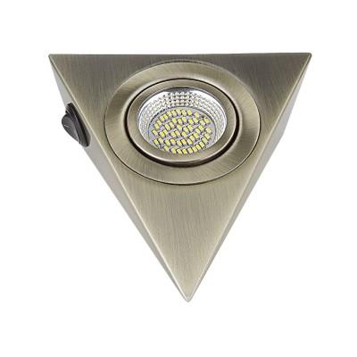 Светильник Lightstar 3141 MONDEМебельные светильники<br><br><br>Цветовая t, К: 3000<br>Тип лампы: LED<br>Цвет арматуры: бронзовый<br>Ширина, мм: 130<br>Длина, мм: 146<br>Высота, мм: 45