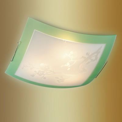 Светильник Сонекс 3145 зеленый/хром SakuraКвадратные<br>Настенно потолочный светильник Сонекс (Sonex) 3145 подходит как для установки в вертикальном положении - на стены, так и для установки в горизонтальном - на потолок. Для установки настенно потолочных светильников на натяжной потолок необходимо использовать светодиодные лампы LED, которые экономнее ламп Ильича (накаливания) в 10 раз, выделяют мало тепла и не дадут расплавиться Вашему потолку.<br><br>S освещ. до, м2: 20<br>Тип лампы: накаливания / энергосбережения / LED-светодиодная<br>Тип цоколя: E27<br>Количество ламп: 3<br>Ширина, мм: 405<br>MAX мощность ламп, Вт: 100<br>Высота, мм: 405<br>Цвет арматуры: серебристый