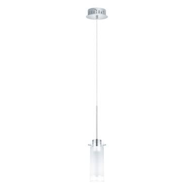 Eglo AGGIUS 1 31501 Светильник подвеснойОдиночные<br><br><br>Тип товара: Светильник подвесной<br>Скидка, %: 57<br>Цветовая t, К: 3000 (теплый белый)<br>Тип лампы: накаливания / энергосбережения / LED-светодиодная<br>Тип цоколя: LED<br>Количество ламп: 1<br>MAX мощность ламп, Вт: 29<br>Диаметр, мм мм: 130<br>Размеры основания, мм: 0<br>Высота, мм: 1100<br>Оттенок (цвет): белый, прозрачный<br>Цвет арматуры: серебристый<br>Общая мощность, Вт: 1X6W