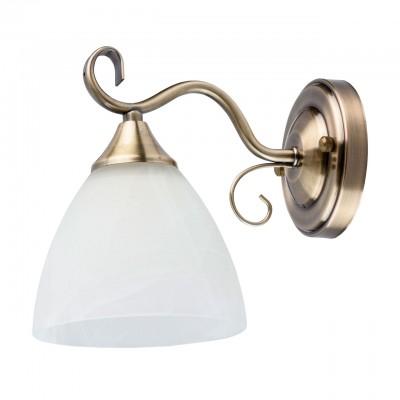 DeMarkt Блеск 315023101 Светильник браСовременные<br><br><br>Тип лампы: Накаливания / энергосбережения / светодиодная<br>Тип цоколя: E27<br>Количество ламп: 1<br>Ширина, мм: 140<br>Длина, мм: 190<br>Высота, мм: 200<br>MAX мощность ламп, Вт: 60