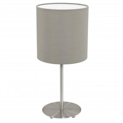 Eglo PASTERI 31595 Текстильный светильникСовременные<br>Настольная лампа – это не просто источник дополнительного освещения, но и оригинальный элемент декора. Его можно установить в спальне, гостиной, кабинете и других комнатах. Интернет-магазин «Светодом» предлагает настольные лампы разных стилей по доступным ценам. Благодаря большому ассортименту Вы обязательно найдете в нашем каталоге именно ту модель, которую искали.   Настольная лампа Eglo 31595 – прекрасный вариант для завершения интерьера. Ее можно включить одновременно с люстрой для более яркого освещения или без нее для создания уютной атмосферы, настраивающей на отдых.   Купить настольную лампу Eglo 31595 Вы можете с помощью виртуальной «Корзины» или по контактным номерам, указанным на сайте.<br><br>Тип цоколя: E27<br>MAX мощность ламп, Вт: 2<br>Диаметр, мм мм: 180<br>Размеры основания, мм: 0<br>Высота, мм: 400<br>Оттенок (цвет): темно-серый<br>Цвет арматуры: серый<br>Общая мощность, Вт: 1X60W