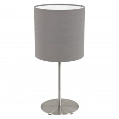 Eglo PASTERI 31597 Текстильный светильникСовременные<br>Настольная лампа – это не просто источник дополнительного освещения, но и оригинальный элемент декора. Его можно установить в спальне, гостиной, кабинете и других комнатах. Интернет-магазин «Светодом» предлагает настольные лампы разных стилей по доступным ценам. Благодаря большому ассортименту Вы обязательно найдете в нашем каталоге именно ту модель, которую искали.   Настольная лампа Eglo 31597 – прекрасный вариант для завершения интерьера. Ее можно включить одновременно с люстрой для более яркого освещения или без нее для создания уютной атмосферы, настраивающей на отдых.   Купить настольную лампу Eglo 31597 Вы можете с помощью виртуальной «Корзины» или по контактным номерам, указанным на сайте.<br><br>Тип цоколя: E27<br>Цвет арматуры: серый<br>Диаметр, мм мм: 180<br>Размеры основания, мм: 0<br>Высота, мм: 400<br>Оттенок (цвет): антрацит-коричневый<br>MAX мощность ламп, Вт: 2<br>Общая мощность, Вт: 1X60W
