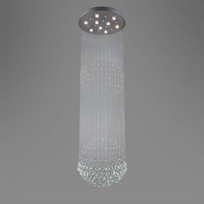 Люстра Bogateapos;s 315/9 StrotskisКаскадные<br><br><br>Установка на натяжной потолок: Да<br>S освещ. до, м2: 30<br>Крепление: Планка<br>Тип товара: Люстра<br>Тип лампы: галогенная / LED-светодиодная<br>Тип цоколя: G5.3<br>Количество ламп: 9<br>MAX мощность ламп, Вт: 50<br>Диаметр, мм мм: 600<br>Высота, мм: 2000<br>Цвет арматуры: серый
