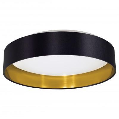 Eglo MASERLO 31622 Текстильный светильникПотолочные<br>Компания «Светодом» предлагает широкий ассортимент люстр от известных производителей. Представленные в нашем каталоге товары выполнены из современных материалов и обладают отличным качеством. Благодаря широкому ассортименту Вы сможете найти у нас люстру под любой интерьер. Мы предлагаем как классические варианты, так и современные модели, отличающиеся лаконичностью и простотой форм.  Стильная люстра Eglo 31622 станет украшением любого дома. Эта модель от известного производителя не оставит равнодушным ценителей красивых и оригинальных предметов интерьера. Люстра Eglo 31622 обеспечит равномерное распределение света по всей комнате. При выборе обратите внимание на характеристики, позволяющие приобрести наиболее подходящую модель. Купить понравившуюся люстру по доступной цене Вы можете в интернет-магазине «Светодом».<br><br>Установка на натяжной потолок: Да<br>S освещ. до, м2: 12<br>Крепление: Планка<br>Цветовая t, К: 3000 (теплый белый)<br>Тип цоколя: LED<br>MAX мощность ламп, Вт: 29<br>Диаметр, мм мм: 405<br>Размеры основания, мм: 0<br>Высота, мм: 82<br>Оттенок (цвет): черный, золотой<br>Цвет арматуры: белый<br>Общая мощность, Вт: 18W