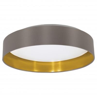 Eglo MASERLO 31625 Текстильный светильникПотолочные<br>Компания «Светодом» предлагает широкий ассортимент люстр от известных производителей. Представленные в нашем каталоге товары выполнены из современных материалов и обладают отличным качеством. Благодаря широкому ассортименту Вы сможете найти у нас люстру под любой интерьер. Мы предлагаем как классические варианты, так и современные модели, отличающиеся лаконичностью и простотой форм.   Стильная люстра Eglo 31625 станет украшением любого дома. Эта модель от известного производителя не оставит равнодушным ценителей красивых и оригинальных предметов интерьера. Люстра Eglo 31625 обеспечит равномерное распределение света по всей комнате. При выборе обратите внимание на характеристики, позволяющие приобрести наиболее подходящую модель.   Купить понравившуюся люстру по доступной цене Вы можете в интернет-магазине «Светодом».<br><br>Установка на натяжной потолок: Да<br>S освещ. до, м2: 7<br>Крепление: Планка<br>Цветовая t, К: 3000 (теплый белый)<br>Тип цоколя: LED<br>Количество ламп: 1<br>MAX мощность ламп, Вт: 18<br>Диаметр, мм мм: 405<br>Размеры основания, мм: 0<br>Высота, мм: 82<br>Оттенок (цвет): каппучино, золотой<br>Цвет арматуры: белый<br>Общая мощность, Вт: 18W